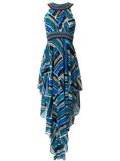 плиссированное платье халтер с принтом  Talitha