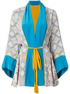 халат с принтом и поясом Maghreb Talitha