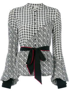 блузка с принтом и поясом  Talitha