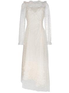 кружевное платье с высоким воротом Saffon Preen By Thornton Bregazzi