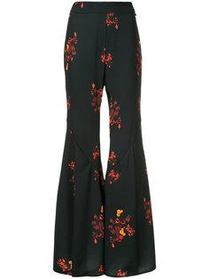 расклешенные брюки с цветочным принтом Ellery