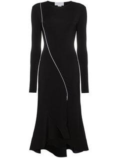 приталенное платье миди с разрезом  Esteban Cortazar