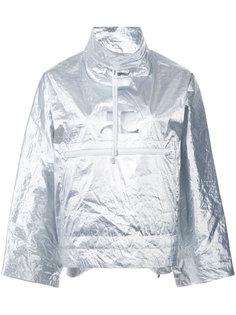 металлизированная куртка-дождевик Courrèges