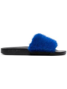 сандалии с меховой отделкой Givenchy