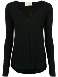 longsleeved embroidered blouse Andrea Bogosian
