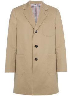однобортное пальто с застежкой на две пуговицы Thom Browne
