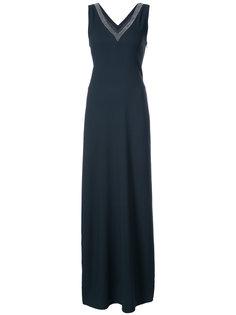 платье макси с V-образным вырезом  Fabiana Filippi