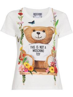 футболка с принтом Teddy Moschino