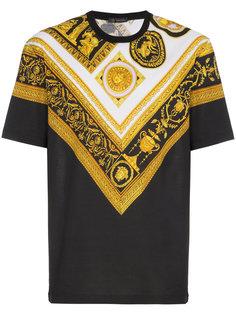 футболка с принтом Cornici Versace
