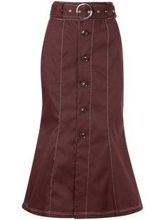 юбка с контрастной строчкой и поясом G.V.G.V.