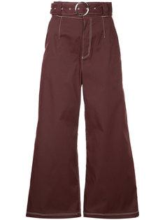 джинсовые брюки-палаццо с контрастной строчкой  G.V.G.V.