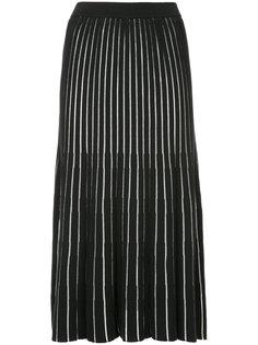 трикотажная юбка с полупрозрачными полосками  G.V.G.V.