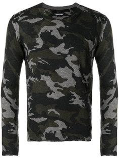 свитер с камуфляжным принтом Zadig & Voltaire
