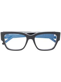 классические квадратные очки Saint Laurent Eyewear