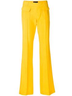 расклешенные брюки со складками Talbot Runhof