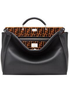сумка-тоут Peekaboo с логотипом Fendi