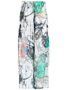 широкие брюки с принтом Mara Mac