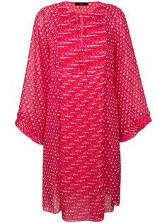платье с плиссированной вставкой  Steffen Schraut
