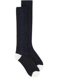 длинные носки с полосатой отделкой Pleats Please By Issey Miyake