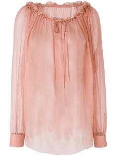 полупрозрачная расклешенная блузка  Alberta Ferretti