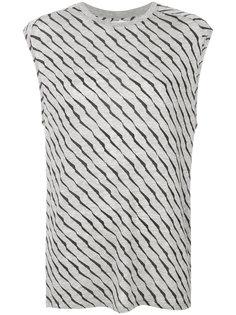 футболка без рукавов с полосатым принтом Zoe Karssen