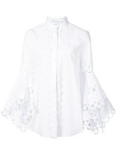 блузка с асимметричными рукавами  Oscar de la Renta