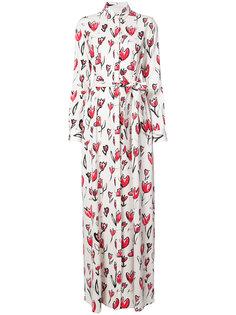 платье макси с цветочным принтом  Oscar de la Renta
