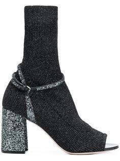 ботильоны sock fusion Miu Miu