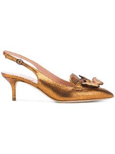 туфли-лодочки с открытой пяткой с бантом Alberta Ferretti