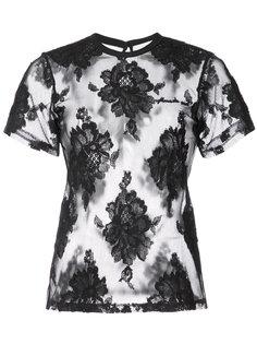 футболка с цветочным кружевом Fleur Du Mal