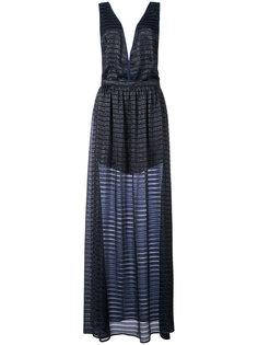полосатое платье-сорочка с отделкой люрексом Fleur Du Mal
