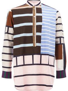 рубашка с вырезом-хенли в полоску Pierre-Louis Mascia