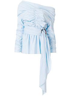блузка с открытыми плечами и присборенными деталями Isa Arfen