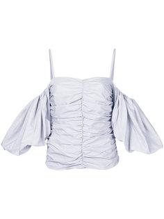 блузка в полоску с открытыми плечами Isa Arfen