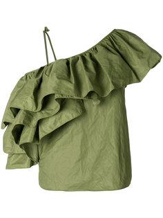блузка на одно плечо с оборочной отделкой Marquesalmeida