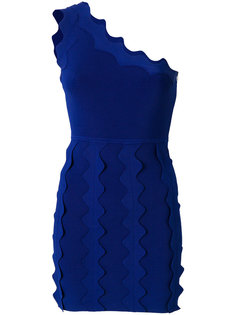 платье на одно плечо с оборками David Koma