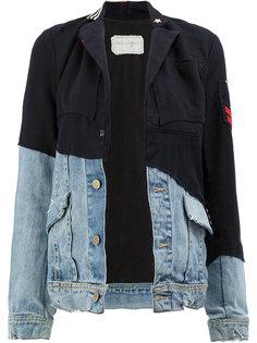 джинсовая куртка со вставками  Greg Lauren