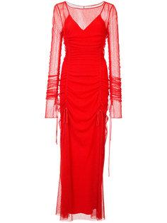 двухслойное присборенное полупрозрачное платье Dvf Diane Von Furstenberg