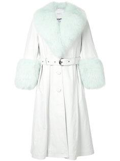 пальто с поясом и отделкой  Saks Potts