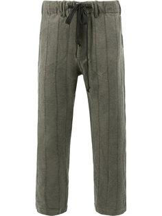 укороченные брюки в полоску Uma Wang