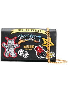 кошелек с заплатками Moschino