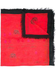 платок с принтом черепов Alexander McQueen