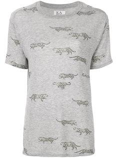 футболка с леопардовым принтом Zoe Karssen