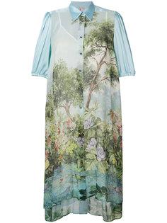 платье-рубашка кроя миди Antonio Marras