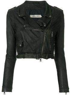 укороченная байкерская куртка  Giorgio Brato
