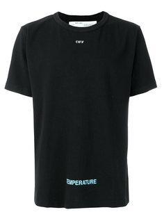 футболка с диагональными полосками Off-White