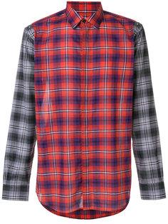 рубашка в клетку с контрастными панелями Givenchy