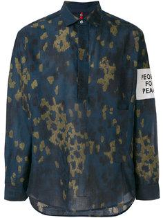 рубашка с эффектом краски Oamc