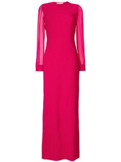 вечернее платье с прозрачными рукавами Givenchy