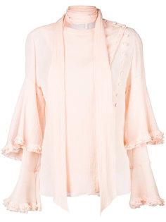 блузка с рюшами и завязками  Chloé
